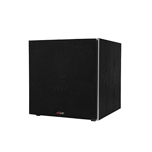 Polk Audio PSW10 10' Powered Subwoofer - Power Port Technology, Up to 100 Watts, Big Bass in Compact Design, Easy Setup with Home Theater Systems