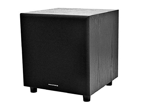 Monoprice 60-Watt Powered Subwoofer - 8 Inch With Auto-On Function, For Studio And Home Theater