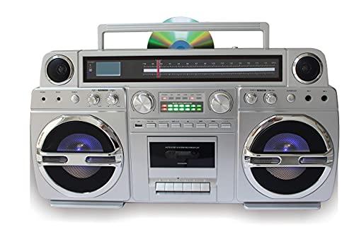 TechPlay Monster 1980S-Style Boom Box CD...