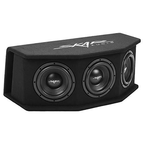 Skar Audio SDR-3X8D2 Triple 8' 2,100 Watt Loaded SDR Series Vented Subwoofer Enclosure, Triple 8' D2 Loaded Enclosure