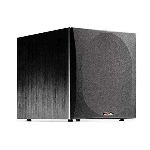 Polk Audio PSW505 12' Powered Subwoofer - Deep Bass Impact & Distortion-Free Sound, Up to 460 Watts, Easy Integration with Home Theater Systems