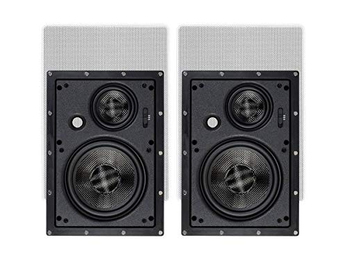 Monoprice 3-Way Carbon Fiber in-Wall Speakers...