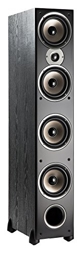 Polk Audio Monitor 70 Series- Tower Speaker (Black, Single) for Multichannel Home Theater- (4) 6.5' Woofers