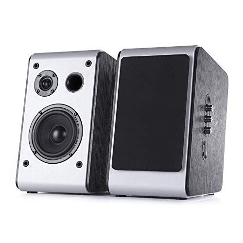 Powered Bluetooth Bookshelf Speakers Pair Big Speaker Stereo HiFiDesktop Audio Bass