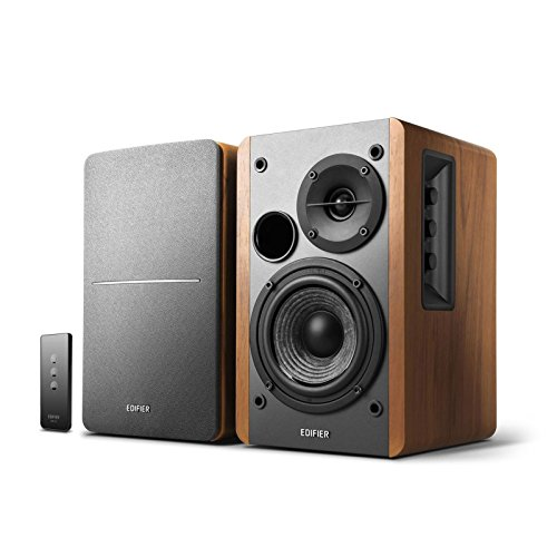 Edifier R1280T Powered Bookshelf Speakers - 2.0 Stereo Active Near Field Monitors - Studio Monitor Speaker - Wooden Enclosure - 42 Watts RMS