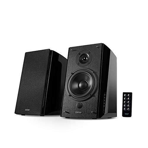 Edifier R2000DB Powered Bluetooth Bookshelf Speakers - Near-Field Studio Monitors - Optical Input - 120 Watts RMS - Black