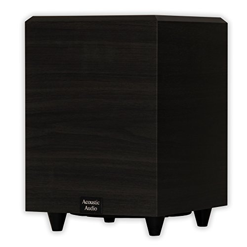 Acoustic Audio PSW-8 300 Watt 8-Inch Down Firing Powered Subwoofer (Black)