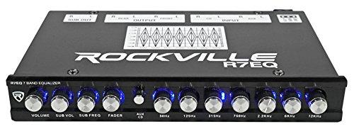 Rockville R7EQ 1/2 Din 7 Band Car Audio...
