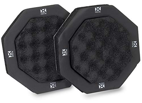 NVX 2 pc Foam Speaker Ring Enhancer Baffle Kit for 6.5' Car Speaker Drivers with Egg Crate Foam Base