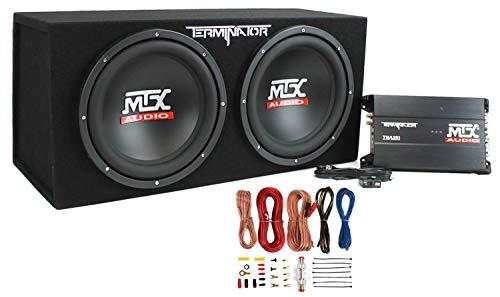 MTX TNP212D2 12' 1200W Dual Loaded Car Subwoofer Audio Sub+Box+Amplifier+Amp Kit