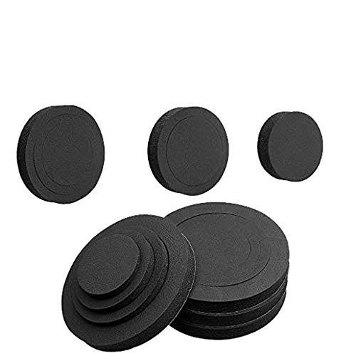 4PCS 6' 6.5' 6.75 inch Universal EVA Self Adhesive Sponge High Rebound Waterproof Car Door Speaker Foam Fast Rings Baffle Kit