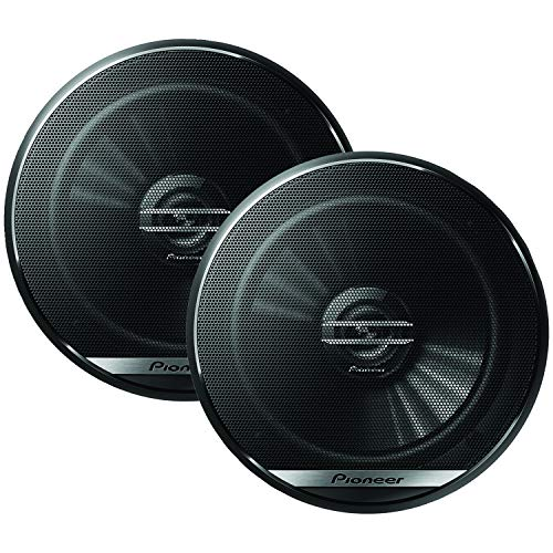 Pioneer TS-G1620F 6-1/2' 2-Way Coaxial Speaker 300W Max. / 40W Nom, 12.90In. X 7.40In. X 3.20In, Black