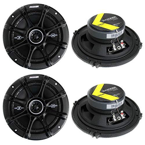 KICKER 4 41DSC654 D-Series 6.5' 480 Watt 2-Way 4-Ohm Car Audio Coaxial Speakers