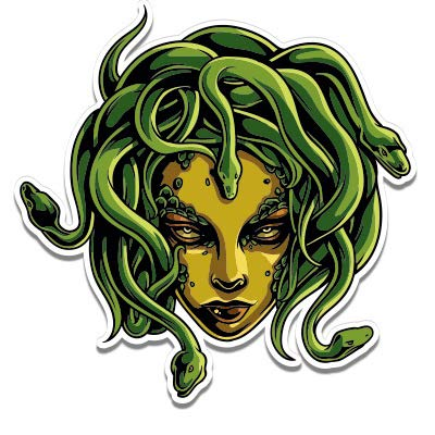 GT Graphics Medusa Snakes Mythical Creature -...