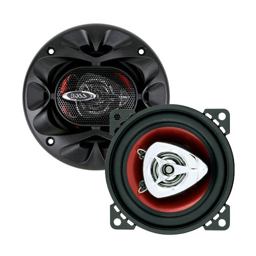 BOSS Audio Systems CH4220 Car Speakers - 200 Watts of Power Per Pair and 100 Watts Each, 4 Inch, Full Range, 2 Way, Sold in Pairs, Easy Mounting