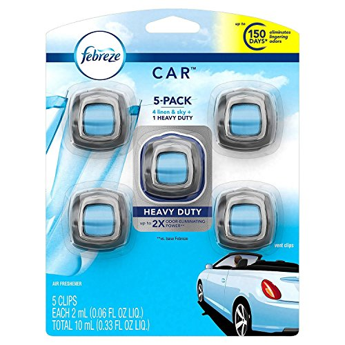 Febreze Car Air Freshener, Set of 5 Clips,...