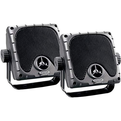 JENSEN JXHD35 Heavy Duty 3.5' MINI Weatherproof Surface Mount Speakers (1 Pair), Black