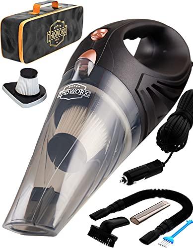 THISWORX Car Vacuum Cleaner - Portable, High...