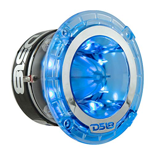 DS18 PRO-TW4L RGB Super Tweeter - 1.75', Polycarbonate Frame and Titanium Diaphragm, 600W Max, 300W RMS, 4 Ohms, Built In Crossover - PRO Tweeters Are the Best in the Pro Audio Market (1 Speaker)
