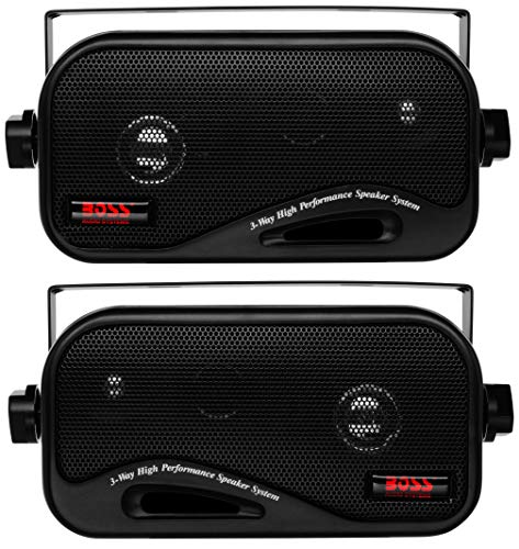 BOSS Audio Systems AVA6200 Enclosed Speaker System - 3-Way, 200 Watts Max Power Per Pair