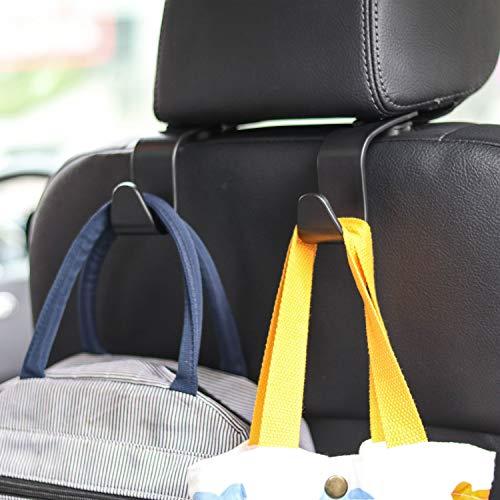 Car Seat Headrest Hook 4 Pack Hanger Storage...