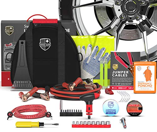 Swiss Safe 2-in-1 Emergency Car Kit, with...