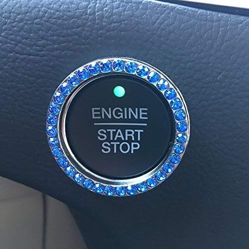 Bling Car Decor Blue Crystal Rhinestone Car...