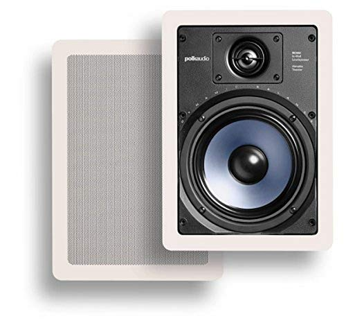 Polk Audio RC65i 2-way Premium In-Wall 6.5'-Speakers (Pair) | Perfect-for Damp-and Humid Indoor/Outdoor Placement | (White, Paintable-Grille)